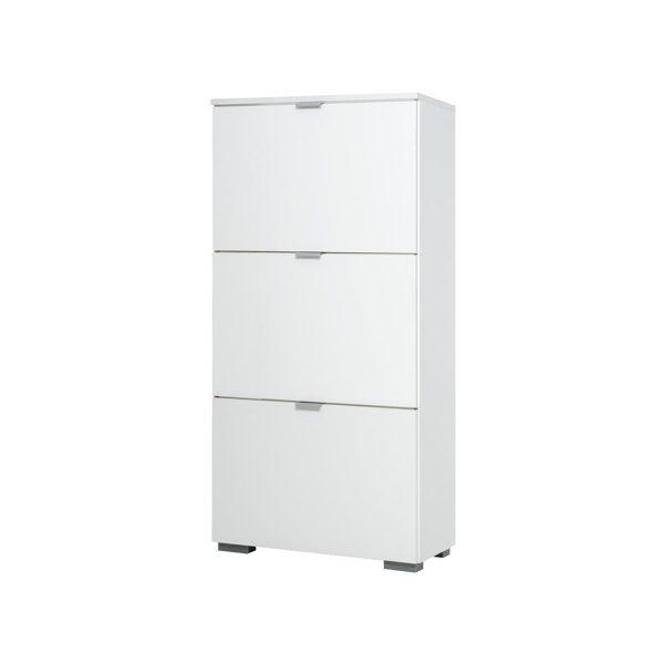 Botník GRAZ 3 výklopy biela/lesklá biela