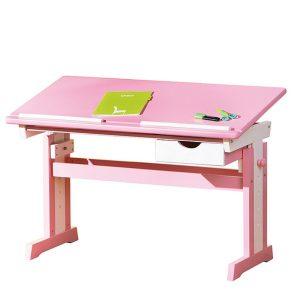 CECILIA písací stôl ružovo/biely