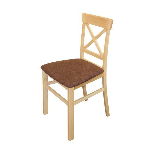 Jedálenská stolička GIORNO buk/tmavo hnedá