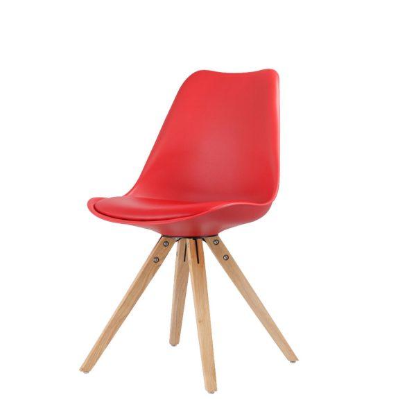 Jedálenská stolička LADY červená
