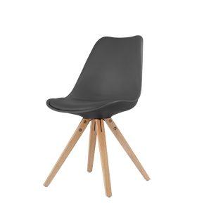 Jedálenská stolička LADY čierna