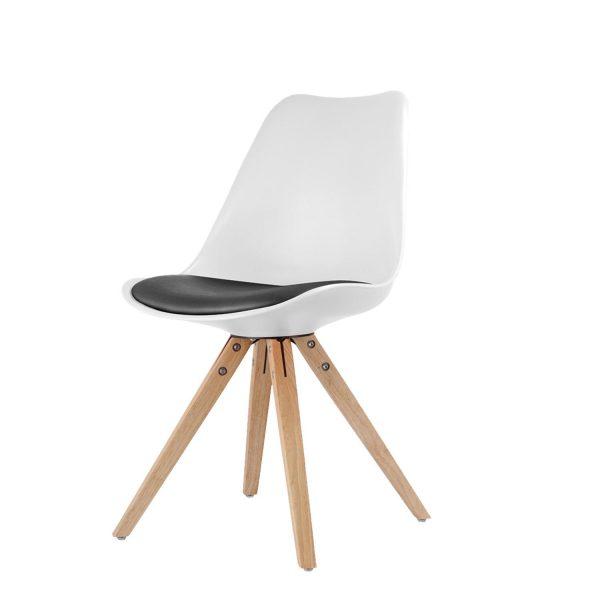 Jedálenská stolička LADY biela/čierna