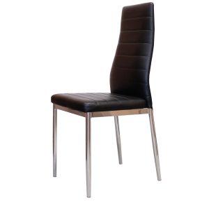 Jedálenská stolička MILÁNO čierna