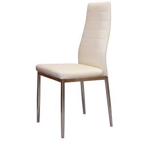 Jedálenská stolička MILÁNO krémovo biela
