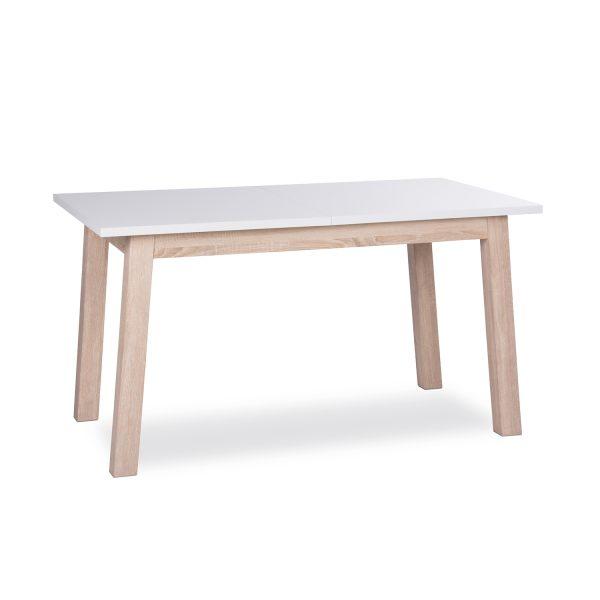 Jedálenský stôl APART 7 biela/dub