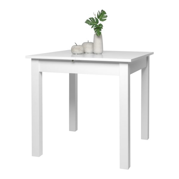 Jedálenský stôl COBURG 80 biely
