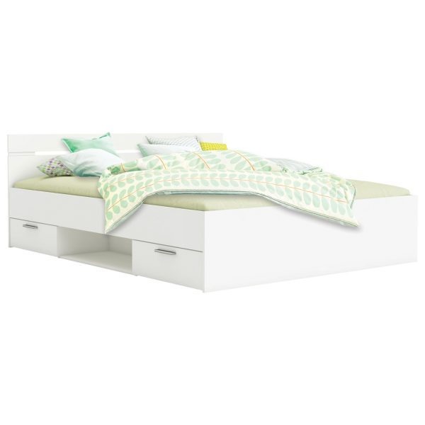 Multifunkčná posteľ 160x200 MICHIGAN perleťovo biela