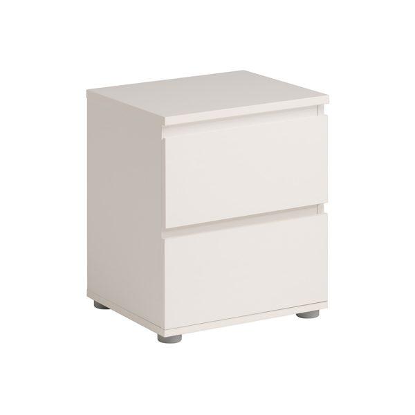 Nočný stolík 2 zásuvky NUOVO biely