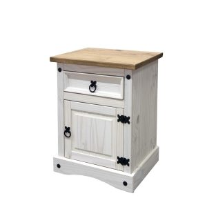 Nočný stolík CORONA biely vosk 16345B