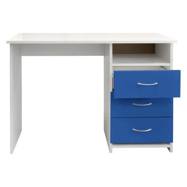 Písací stôl 44 modrá/biela