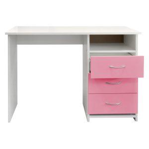 Písací stôl 44 ružová/biela