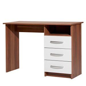 Písací stôl 60044 orech/biela