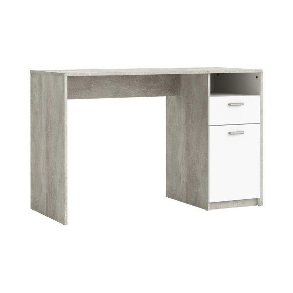 Písací stôl HOUSTON biela/betón