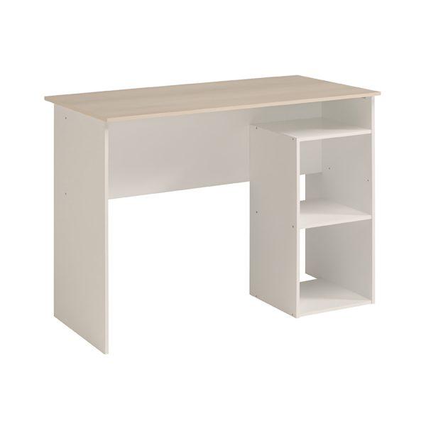 Písací stôl KEYWORLD biela/akácia