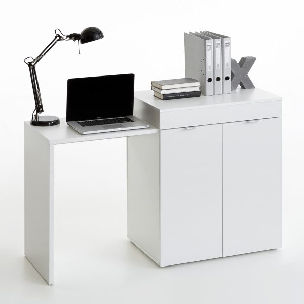 Písací stôl STRETCH 2 biely