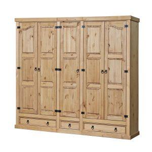 Skriňa 5-dverová CORONA vosk 162819