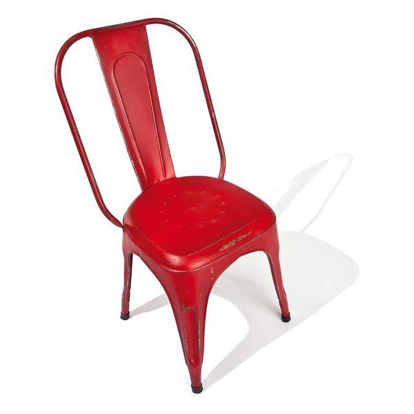 Stolička AIX retro červená