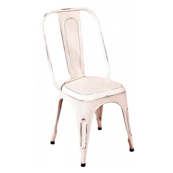 Stolička AIX retro biela