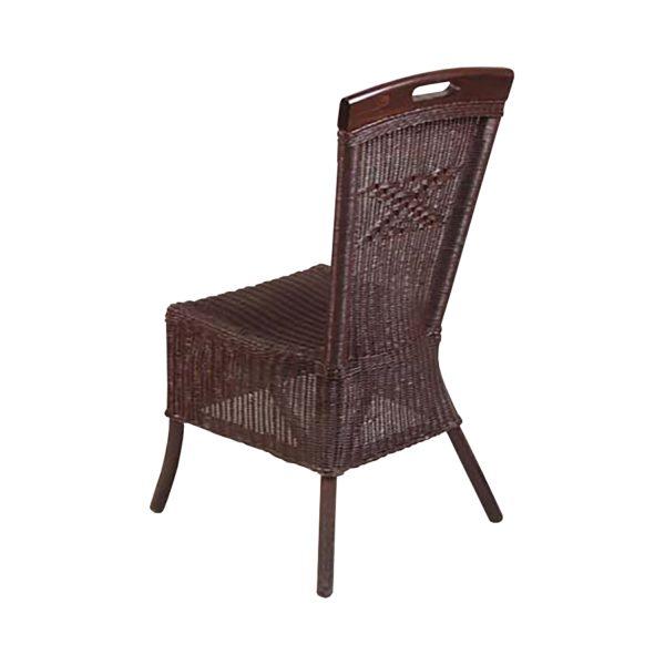 Jedálenská stolička ratan hnedá