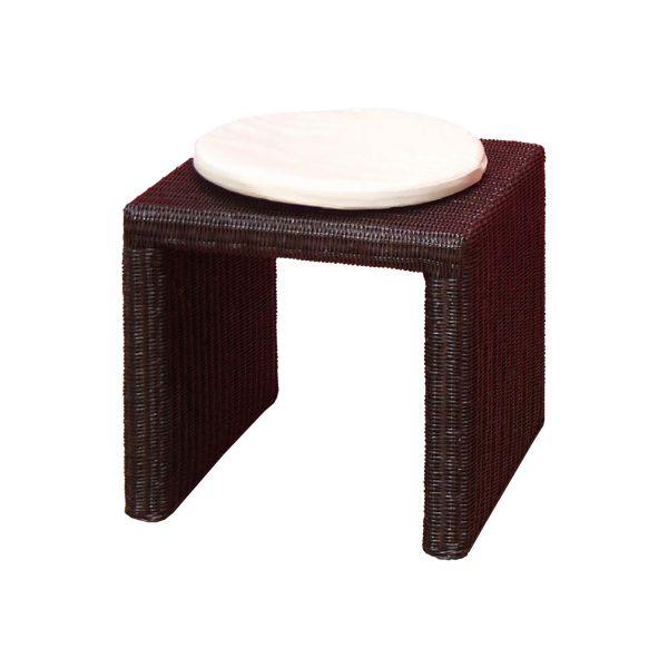 Stolička ratan hnedá