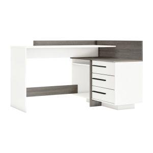 Písací stôl rohový THALES 484883 dub Prata/biela