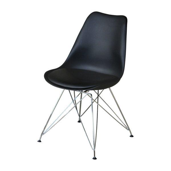 Jedálenská stolička PITU čierna