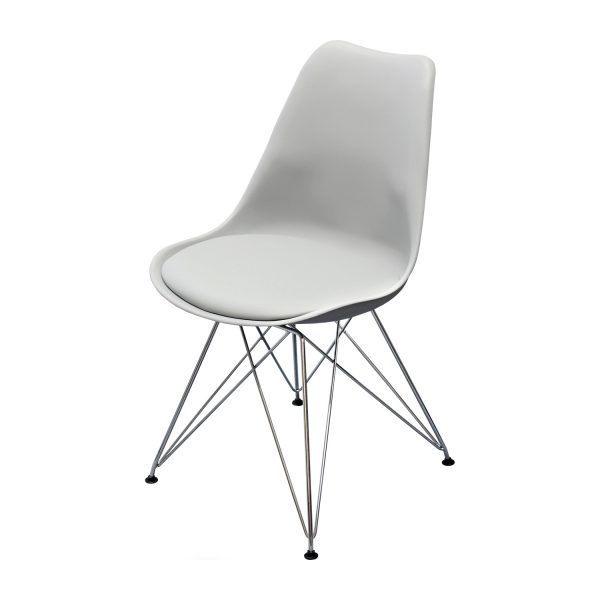 Jedálenská stolička PITU sivá