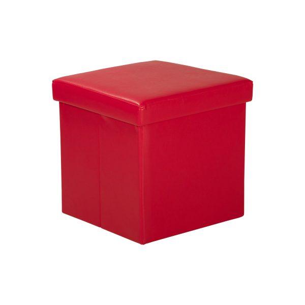 Sedací úložný box červený