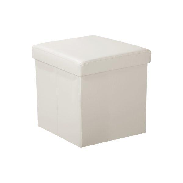 Sedací úložný box krémovo biely