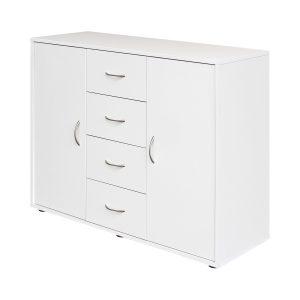 Bielizník 2 dvierka + 4 zásuvky 1507 biely