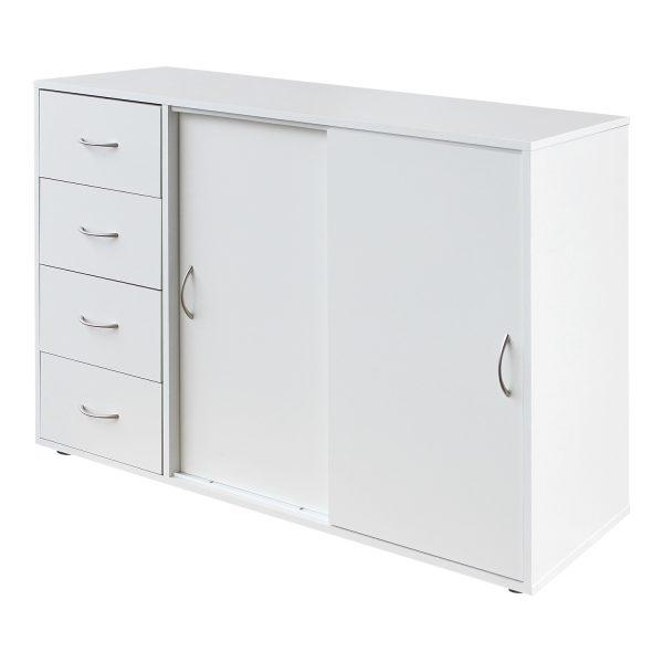 Bielizník 4 zásuvky + 2 dvere 1503 biely