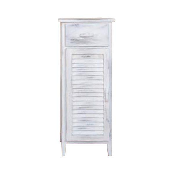 Komoda 1 dvere + 1 zásuvka biela antik
