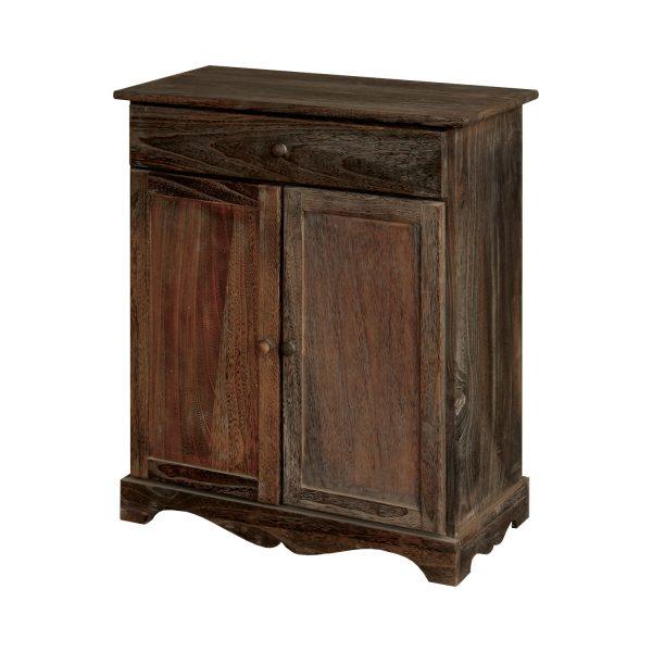 Komoda 2 dvere + zásuvka hnedá antik