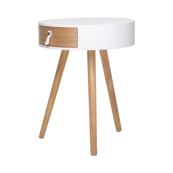 Odkladací stolík CARPI biely/borovica