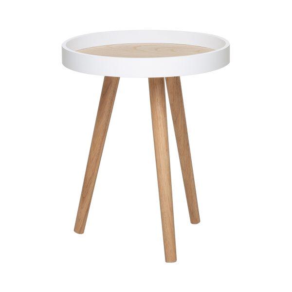 Odkladací stolík FANO biely/borovica