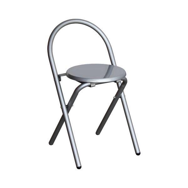 Skladacia stolička alu/sivá