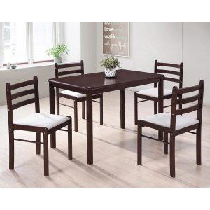 Stôl + 4 stoličky FARO lak čerešňa