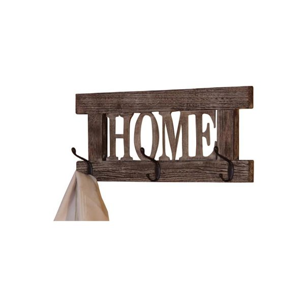 Vešiak HOME hnedý antik
