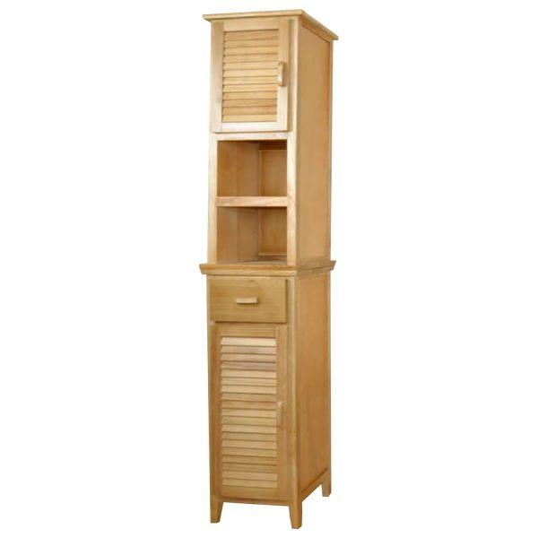 Vysoká skrinka 2 dvere + 1 zásuvka lak