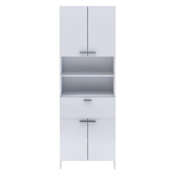 Vysoká skrinka 4 dvere + 1 zásuvka KORAL biela