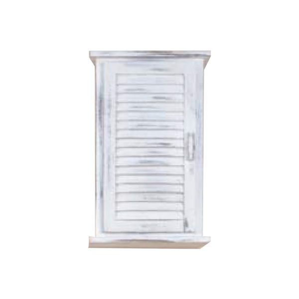 Závesná skrinka 1 dvere biela antik