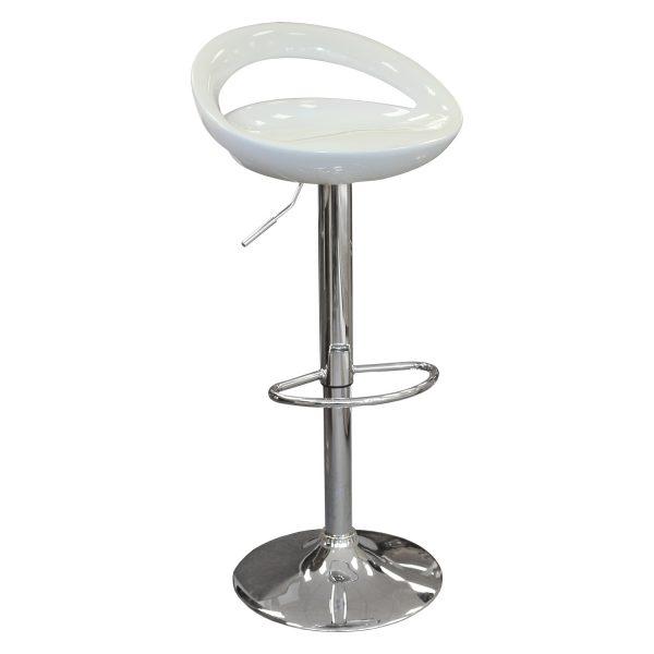 Barová stolička biela