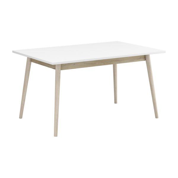Jedálenský stôl NATURE dub/biela