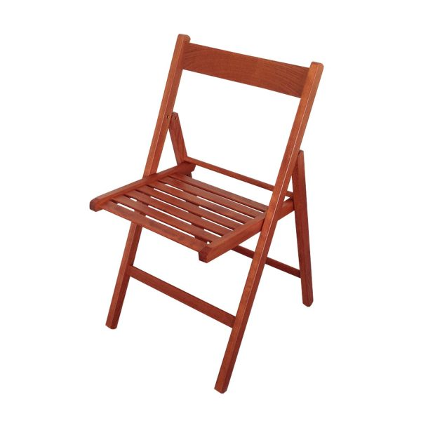 Skádacia stolička lak čerešňa