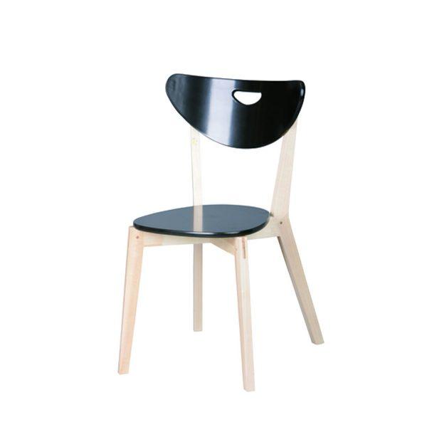 Stolička PEPPI - čierna (2 ks)