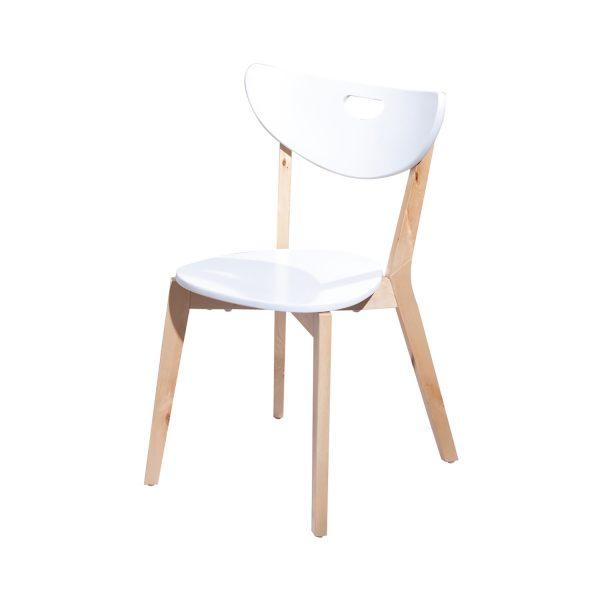 Stolička PEPPI - biela (2 ks)