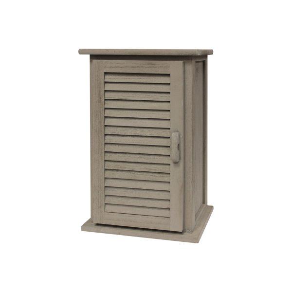 Závesná skrinka 1 dvere sivá antik