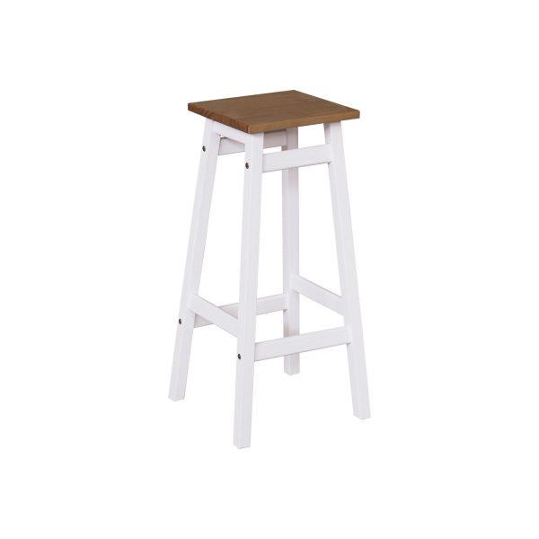 Barová stolička TORINO biela/hnedá