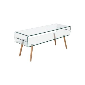Konferenčný stolík sklo/buk