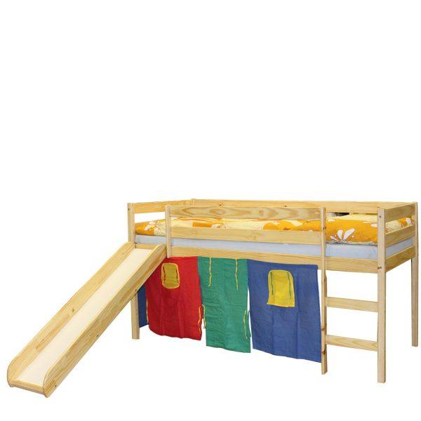 Poschodová posteľ so šmýkačkou LARS